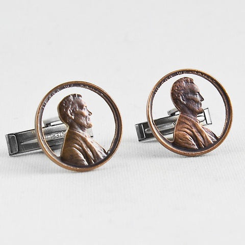 """Honest Abe"" Penny Cufflinks"