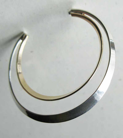 Mixed Metal Hoop Earring