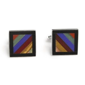 Autumn Stripe Men's Cuff Links