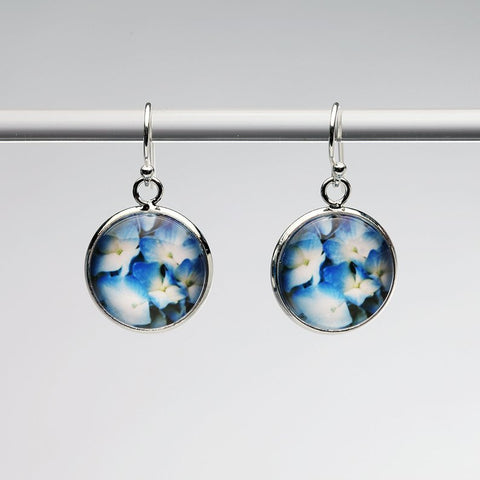 Blue Hydrangea Earrings