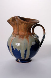Blue Stoneware Pitcher