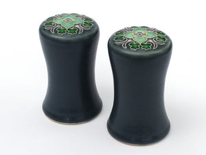 Blue Trellis Salt & Pepper Set