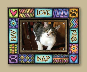 """Play Purr Nap Love"" Picture Frame"
