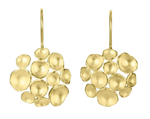 Champagne Pod Vermeil Earrings