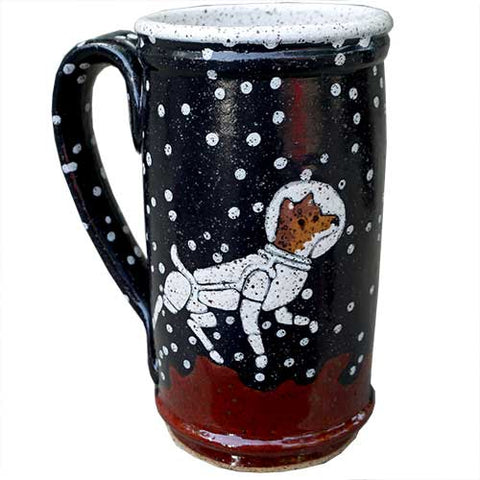 Red Dog Astronaut Mug