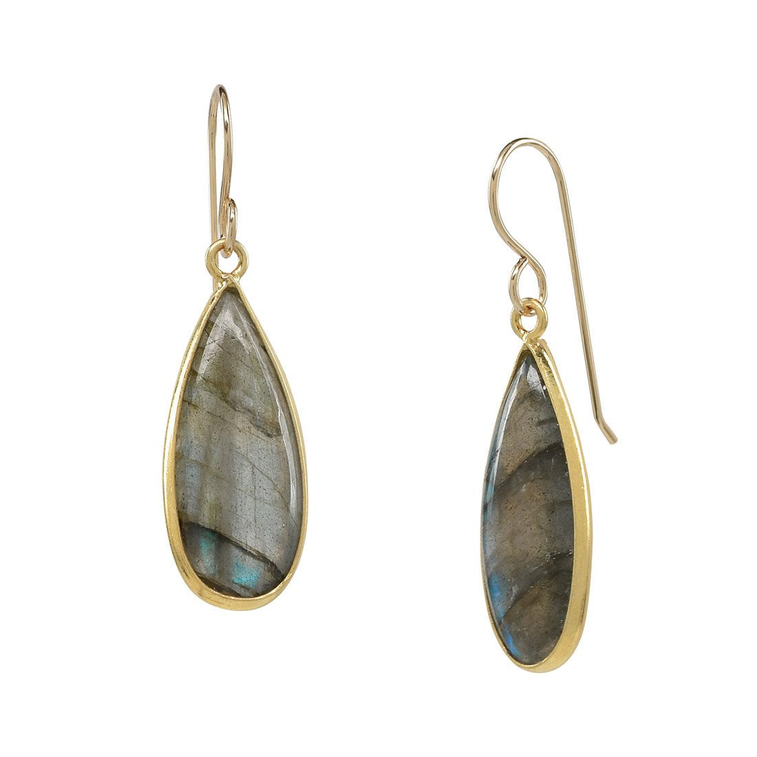 Labradorite Teardrop Earrings