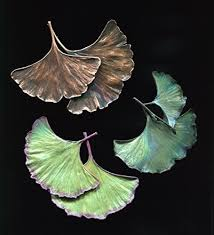 Double Ginkgo Leaf  Pin