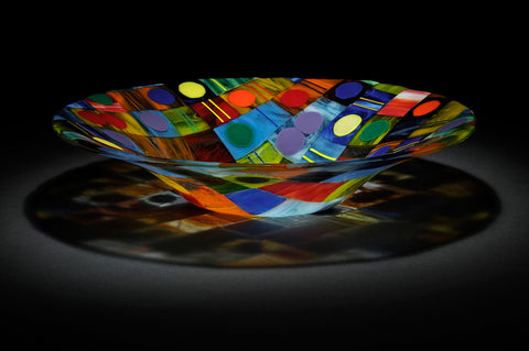 """Dominic"" Glass Bowl"