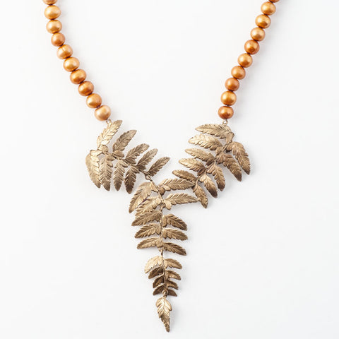 Fern & Pearl Necklace