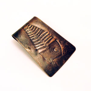 Fossil Fish Money Clip