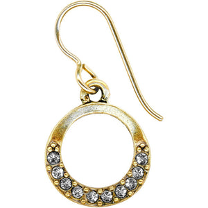 Full Moon Antique Gold Earring
