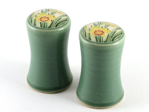 Green Daffodil Salt & Pepper Set