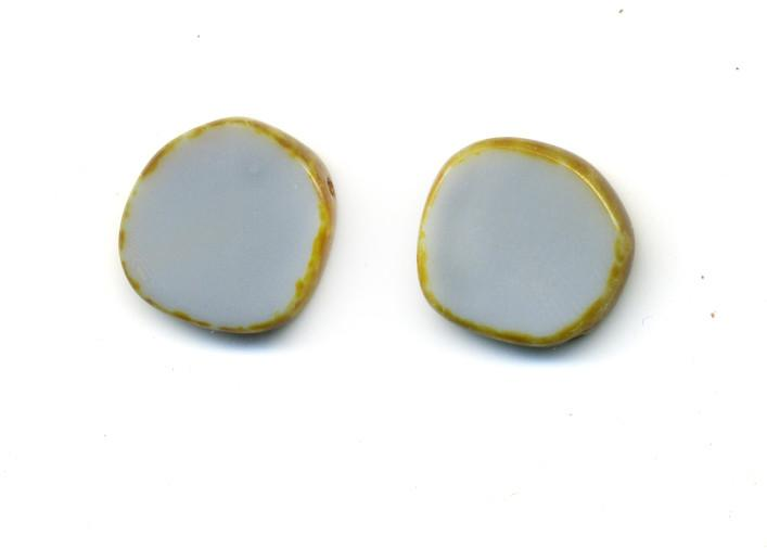 Grey Circle Earrings