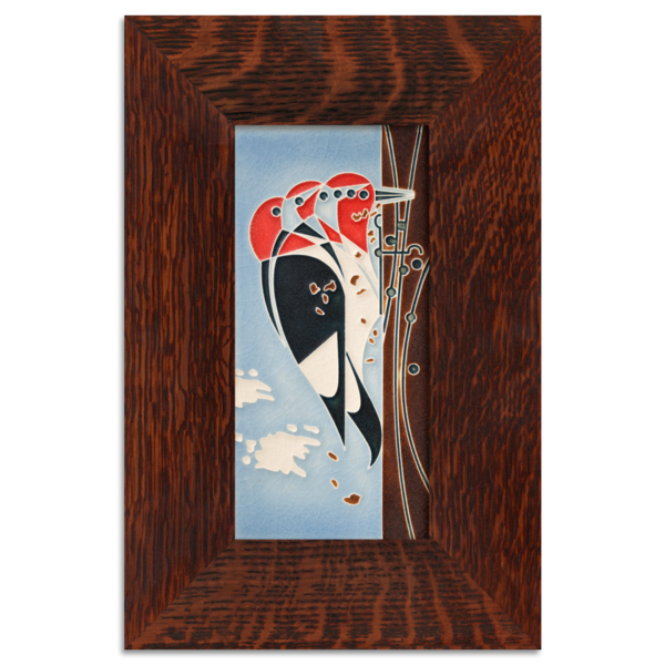 Woodpecker in Oak Frame