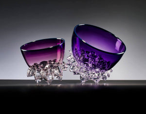 Purple Amethyst Thorn Vessel Set