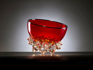 Cherry Red Thorn Vessel