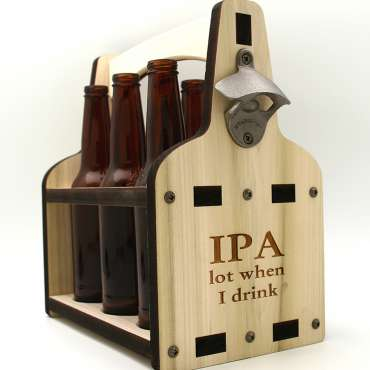 IPA Wooden Beer Caddy