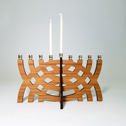 Intersecting Arcs Menorah