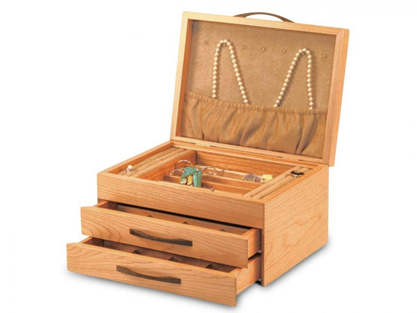 Cherry Blossom Two-Drawer Jewelry Box
