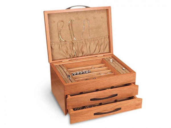 Hummingbird Two-Drawer Jewelry Box