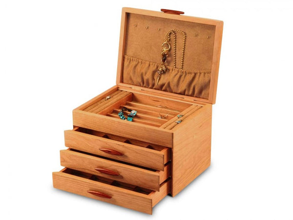 Cascade Three-Drawer Jewelry Box