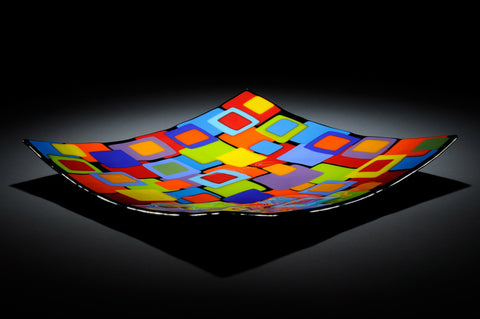 """Joseph"" Square Glass Bowl"