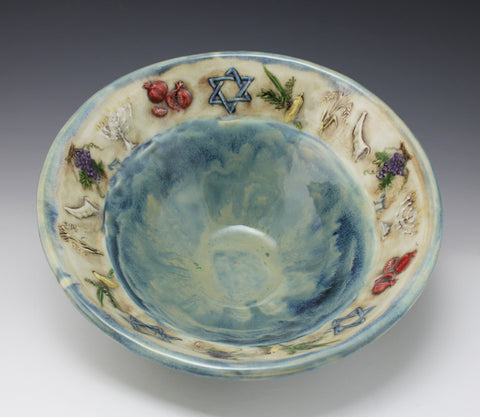 Judaic Symbols Bowl