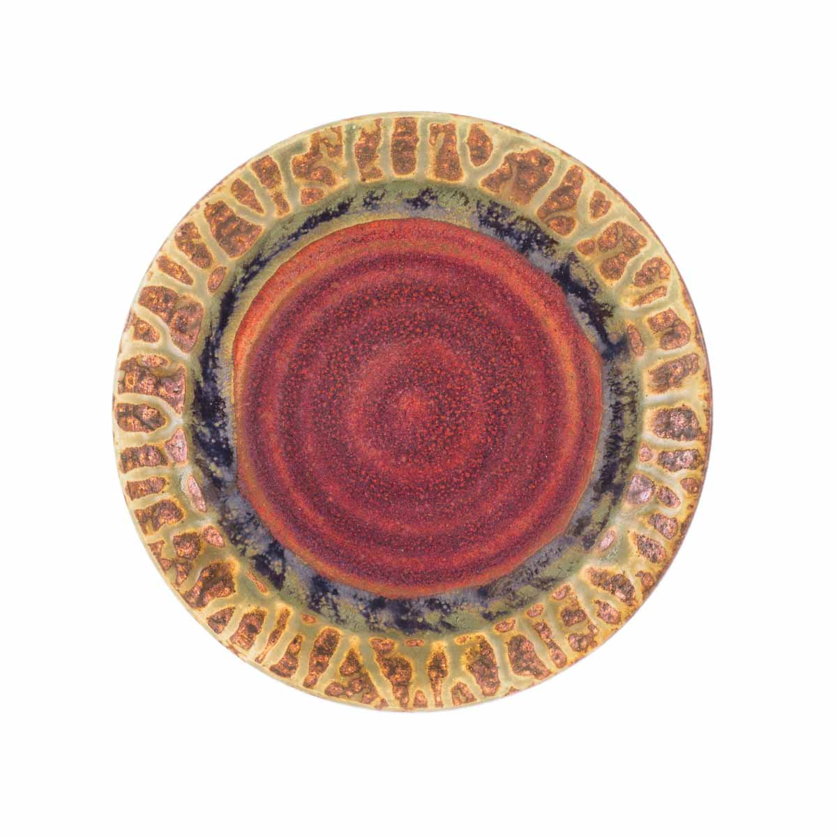Green Ash Glaze Lunch Plate