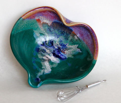 Heart Bowl Brown Green
