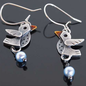 """Love Birds"" Earrings"
