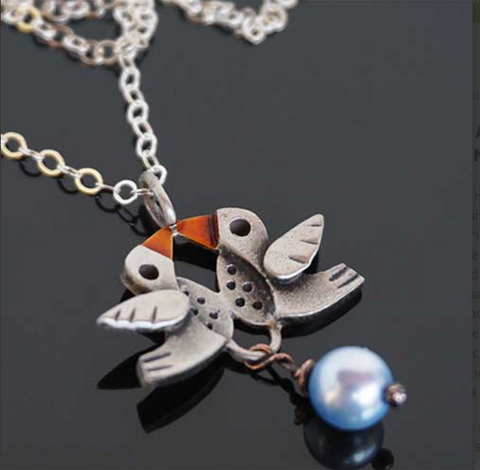 """Love Birds"" Necklace"