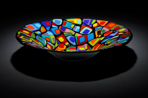 "Mosaic ""Wendy"" Glass Bowl"