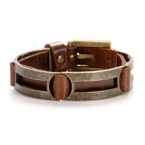 Narrow Men's Leather Cuff