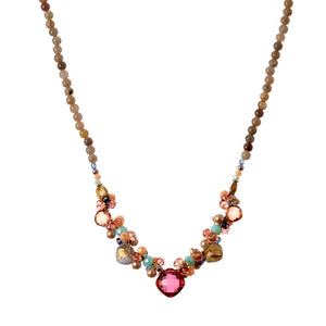 """Regina"" Necklace with Marsala Quartz"