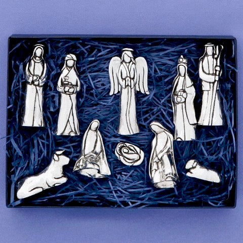 Pewter Nativity Set