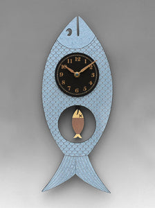 Silver Wanda the Fish Clock