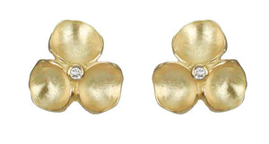 Tri Pod Vermeil Earrings