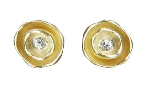 Oyster Pod Vermeil  Earrings