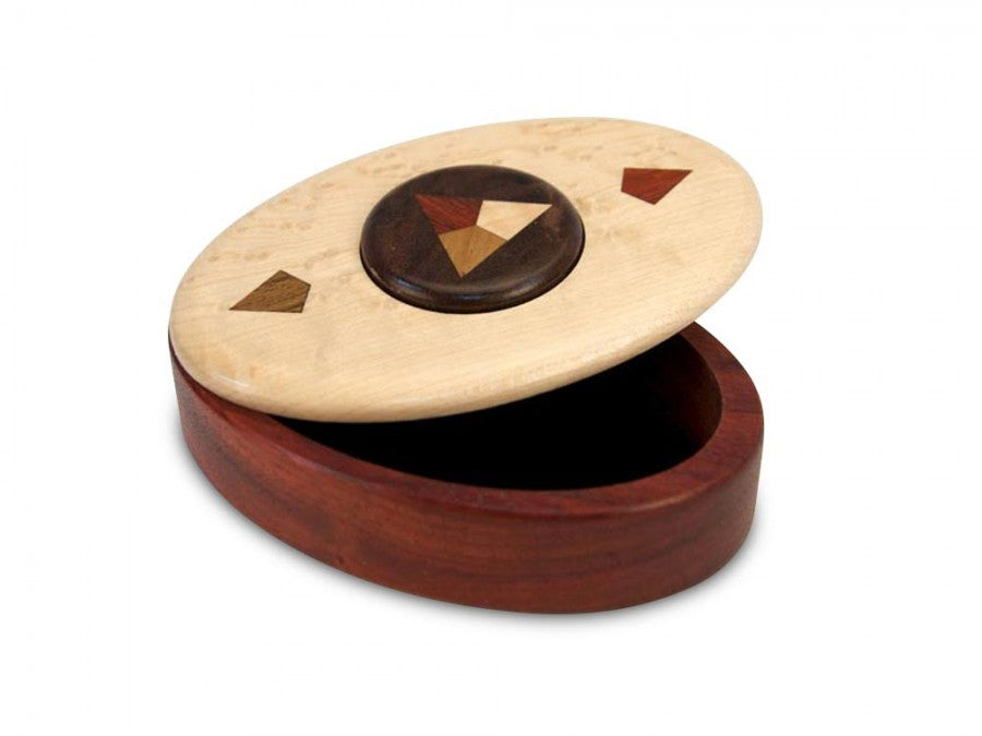 Star Marquetry Button Puzzle Box