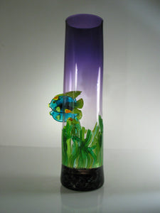 Parrot Fish Sea Glass Vase