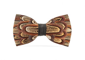 Pheasant Feather Bow Tie