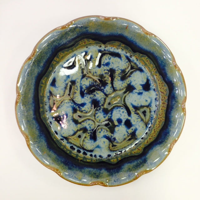 Blue Fluted Pie Plate