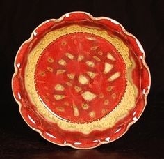 Red Fluted Pie Plate
