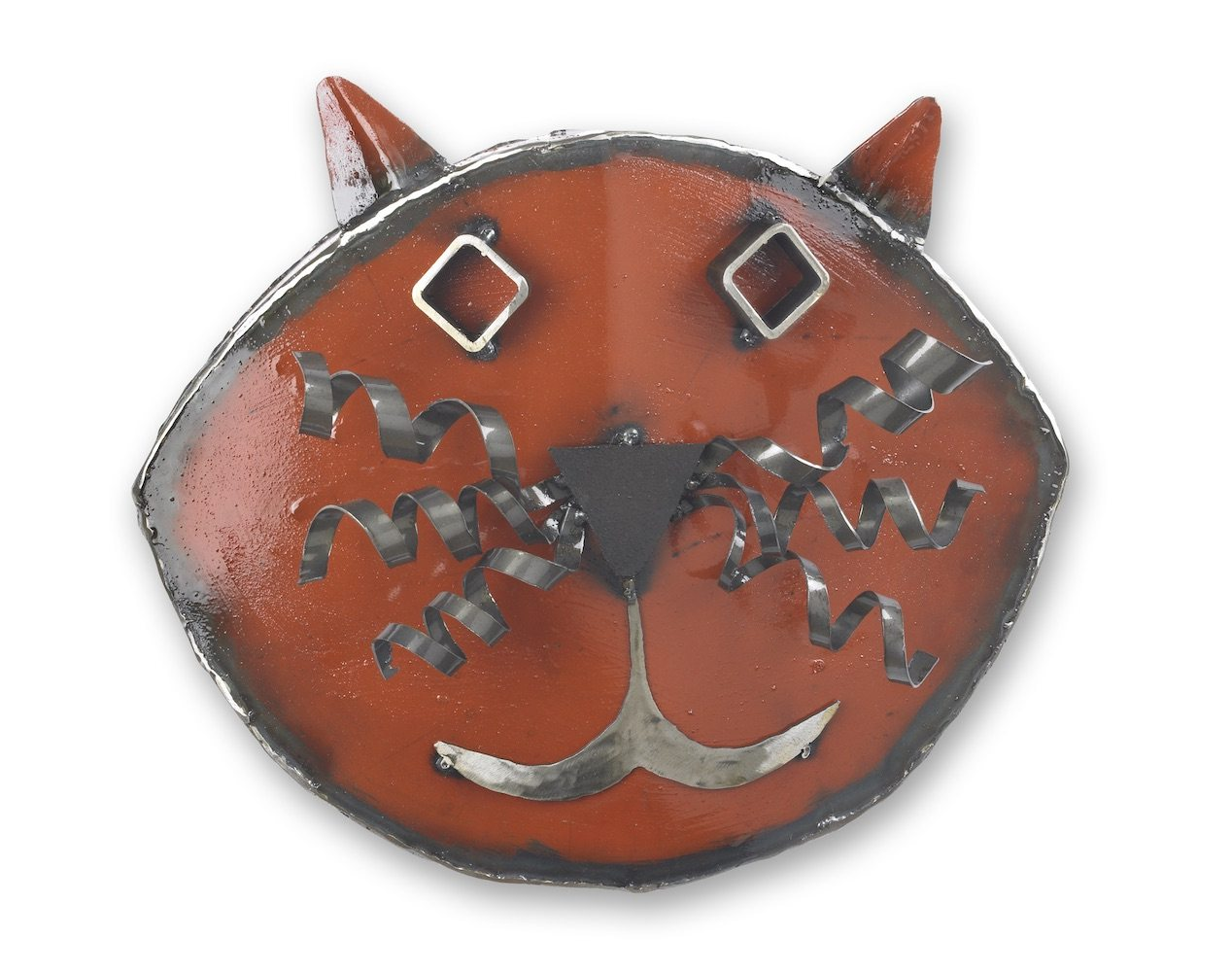 Red Cat Wall Sculpture
