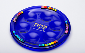 Royal Blue Passover/Seder Plate