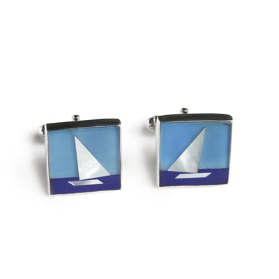 Sail Boat Men's Cuff Links