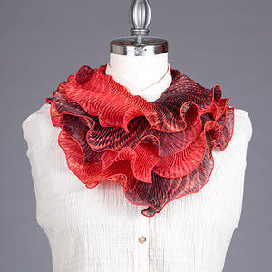 Shibori Silk Scarf Red & Black