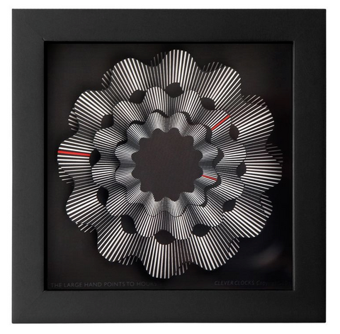Black Ribbon Clock