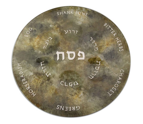 Amber Black Passover Plate