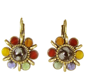 Durango Flower Lever Back Earrings